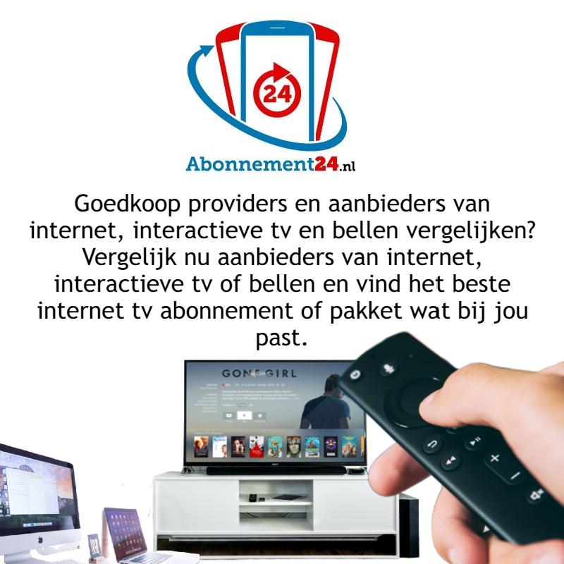 Goedkoop providers en aanbieders van internet, interactieve tv en bellen vergelijken.