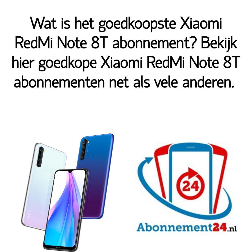 Wat is het goedkoopste Xiaomi RedMi Note 8T abonnement_ Bekijk dé goedkope Xiaomi RedMi Note 8T abonnementen van Nederland.