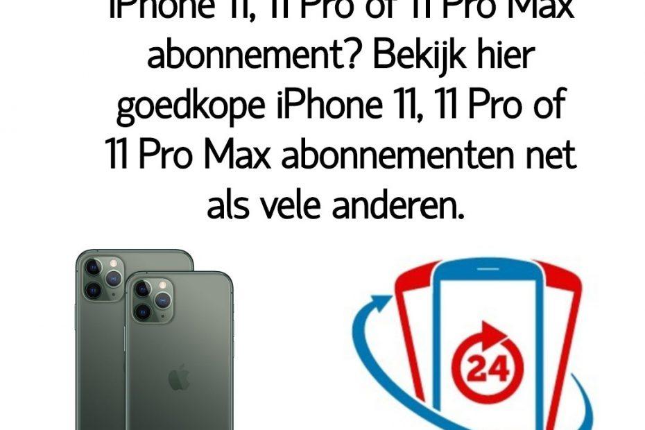 Wat is het goedkoopste iPhone 11, 11 Pro of 11 Pro Max abonnement_ Bekijk dé goedkope iPhone 11, 11 Pro of 11 Pro Max abonnementen van Nederland.