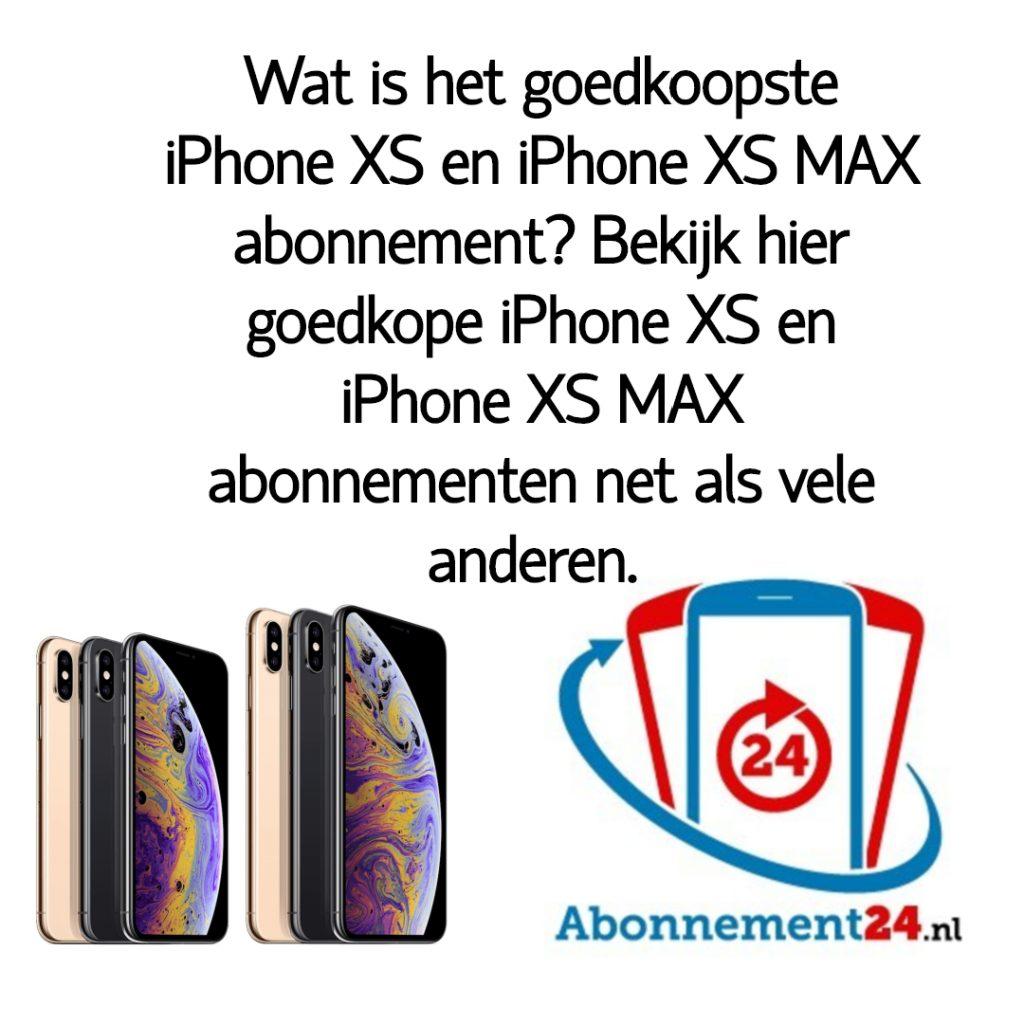 Wat is het goedkoopste iPhone XS of iPhone XS MAX abonnement_ Bekijk dé goedkope iPhone XS of iPhone XS MAX abonnementen van Nederland.